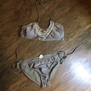 Xhilaration Two-Piece Bikini Set W/Metallic Beads